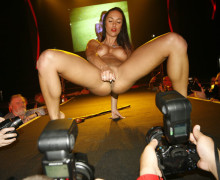 Erotic fairs – pornstar on stage