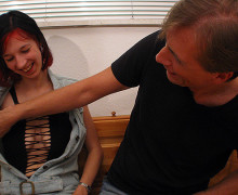 Redhead young amateur will get banged arduous by an older fellow