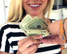 Bree Mitchells earns some bucks from a horny dude