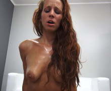 Sultry Czech redhead gets hard banging and facial at the end