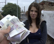 Czech college girl public sex for cash