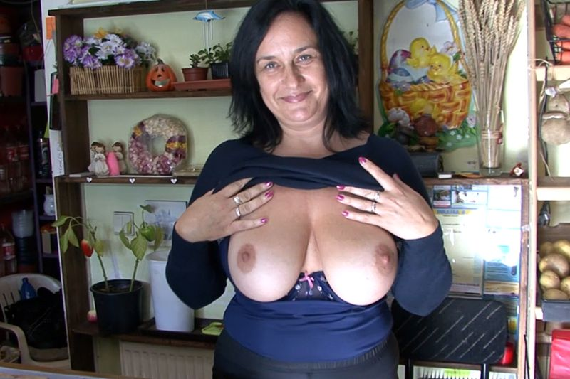 F-Sized boobs mature lady gets fucked for cash in her flower store. Red porn vids