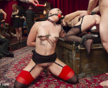Heavy bondage, clamps and anal anihilation
