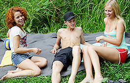 Nothing better than a picnic with hot chicks at the lake