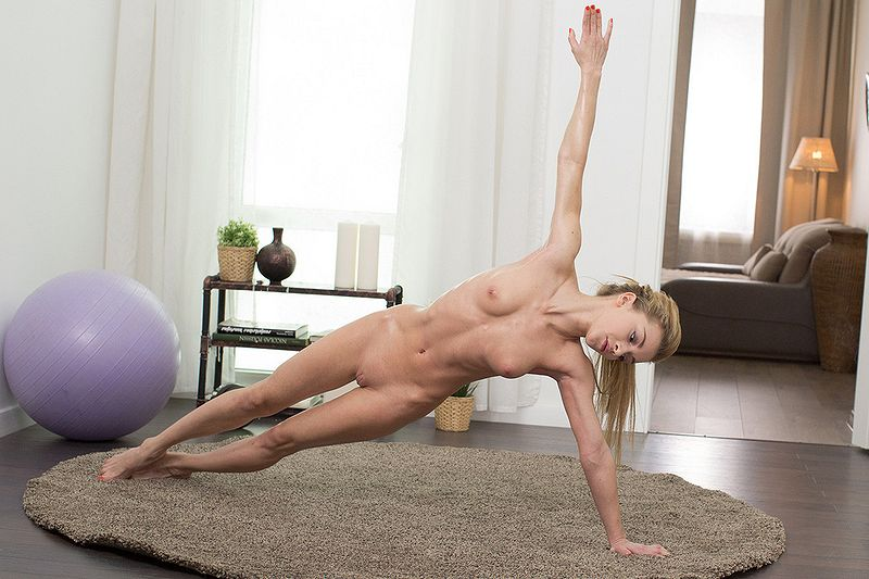 Slender blonde Sonya Sweet naked yoga. Free red porn vids