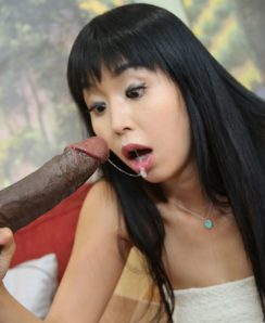 Marica Hase clogged with black monster cock