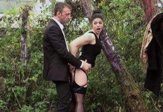 Lucia Love fucked outdoor like a street whore