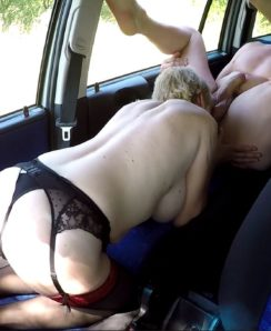 Old whore fucked in the car