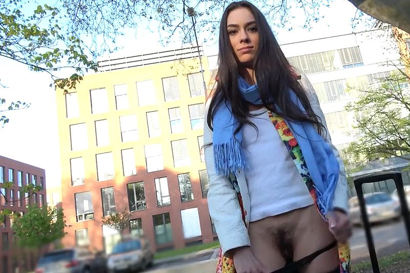 Russian girl Arwen Gold fucks in public