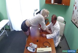 Tall chick Lexi Lou wants doctor's dick